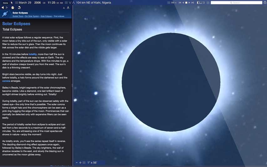 Starry Night Middle School Solar System Screenshot